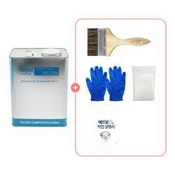 [기본세트] 조이FRP 3kg+유리섬유붓장갑 세트