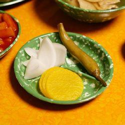 추억의 떡볶이 접시 레트로 옛날 그릇 3칸원접시 1P