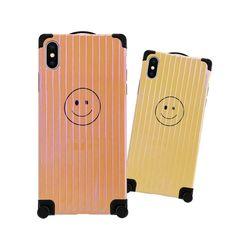 아이폰6S 풀커버 스마일 캐리어 실리콘 케이스 P090