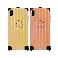 아이폰6 풀커버 스마일 캐리어 실리콘 케이스 P090