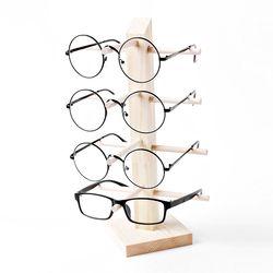 원목 안경거치대 4단 선글라스거치대 안경걸이