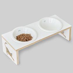 뽀떼-쿡맘w 2구-강아지 밥그릇고양이밥그릇