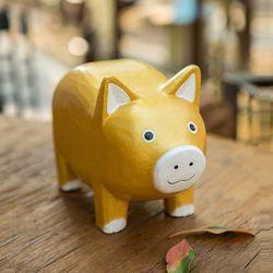 D21377 목각 돼지 장식인형