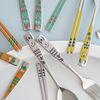 스틸리커트러리 디자인라인 어린이용 수저세트 포크