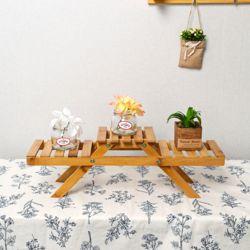 가든 원목 화분진열대(52x16.5cm)