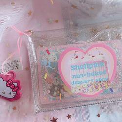 레인보우 케이크 글리터 카드 지갑