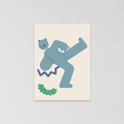 캣맨엽서-cucumber