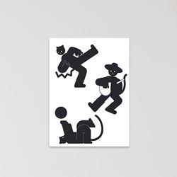 캣맨엽서-dancing
