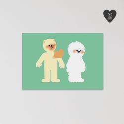 (유기견후원)독맨엽서-fall in love