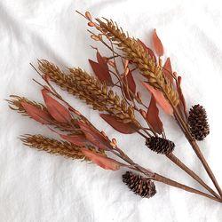 가을소품 밀 꽃 조화 가지