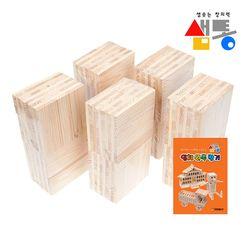 샘통 카프라원목 500pcs(미송) 예제집원목쌓기
