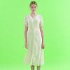String Sleeve Chiffon Dress Ivory