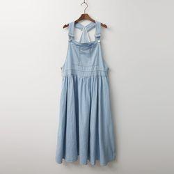 Rose Overall Denim Long Dress