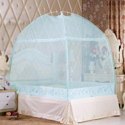 유니룸 텐트형 사각 모기장(블루)(2인용)