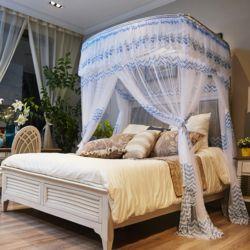 데이스윗 침대 모기장(블루)(150x200cm)