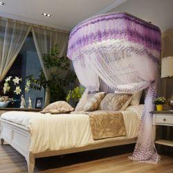 데이스윗 침대 모기장(퍼플)(150x200cm)