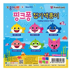 종이나라 접기색종이 핑크퐁 캐릭터접기 상어가족