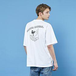 크루클린 드로임 흰수염 고래 프린트 오버핏 반팔티셔츠 TRS223