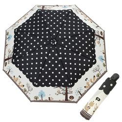 A0499 부엉이 블랙 3단자동우산