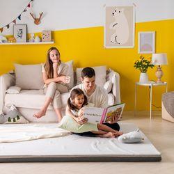 엄마토퍼 접이식 매트리스 바닥 수면매트 라지킹