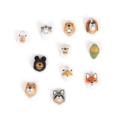 탐닉 세렝게티 동물자석세트 늑대와 여우 그리고 멍멍