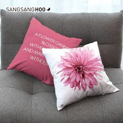 핑크 스위트블로썸 북유럽 쿠션 커버 45x45cm