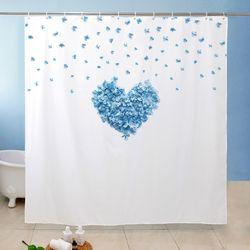 블루하트 욕실커튼 방수 샤워 가리개