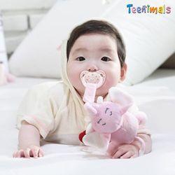 Teenimals 티니멀스 애착인형 클립 핑크코끼리 파란조랑말