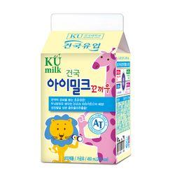 건국우유 가정배달 건국 아이밀크꼬끼우 450ml (주4회4주)