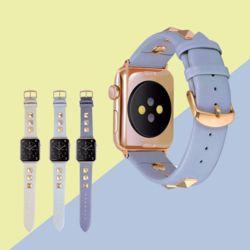 애플워치 38 40 42 44mm 스터드 소프트 가죽 스트랩