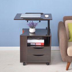 리코스 서랍 노트북테이블(브라운)