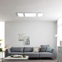 스피아노 LED평판엣지 조명세트 105W 나열형(침실중소형 거실)