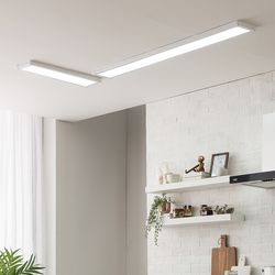 스피아노 LED평판엣지조명세트 60W ㄱ자형(주방)