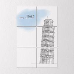 tb354-멀티액자이탈리아피사의사탑