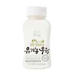 건국우유 가정배달 강원 청정목장 유기농우유 200ml (주5회4주)