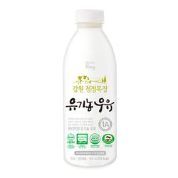 건국우유 가정배달 강원 청정목장 유기농우유 800ml (주2회4주)