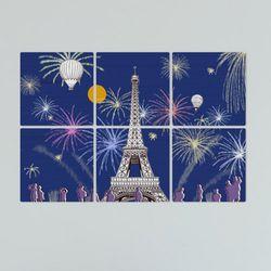 tb356-멀티액자에펠탑과불꽃놀이