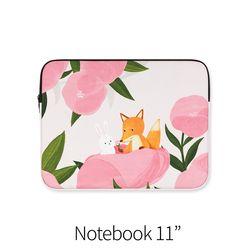 분홍꽃사이 (노트북 11인치 파우치)