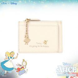 디즈니X클루 큐티 앨리스 아이보리 카드 지갑 CLAB19841SIP