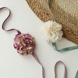 브라이덜샤워 꽃팔찌-프렌치수국 [2color]