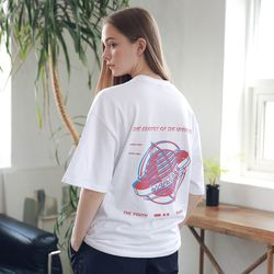 아더로브 유니섹스 글로브 티셔츠 ATS192003-WT