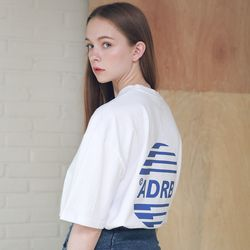 아더로브 유니섹스 시그니처 스카치 로고 티셔츠 ATS192005-WT