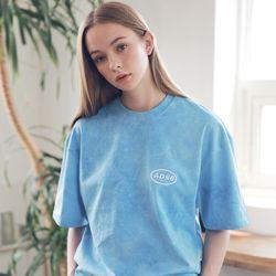 아더로브 유니섹스 일립스 로고 타이다이 티셔츠 ATS192006-BL
