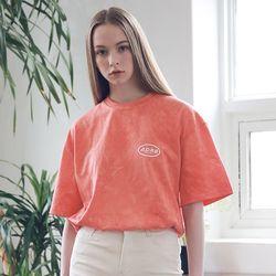 아더로브 유니섹스 일립스 로고 타이다이 티셔츠 ATS192006-OR