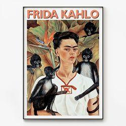 대형 메탈 명화 그림 일러스트 포스터 액자 프리다 칼로 B