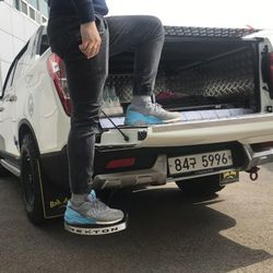 [크기/규격 기입] 렉스턴스포츠 숏바디 튜닝용품 배드스텝 트렁크발판