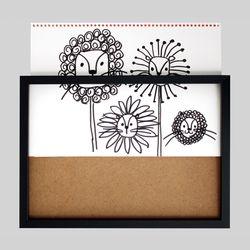 스케치북 통째로넣는 그림보관 액자 8절 - 블랙