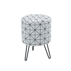 드롱 디자인 패브릭 스툴 의자