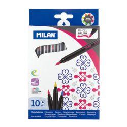 MILAN 밀란 수성 붓펜 10색 세트