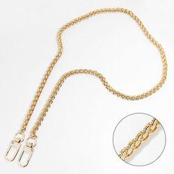 [G051] 골드 바스켓 체인 여성핸드백줄 크로스끈(100-120cm)